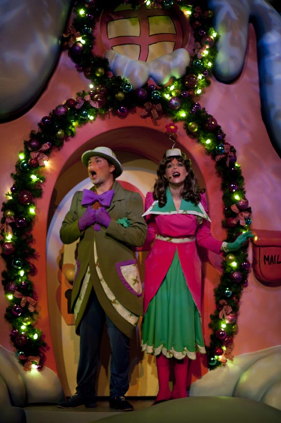 "At Grinchmas at Islands of Adventure, the popular Dr. Seuss book ""How the Grinch Stole Christmas"" is brought to life in the heartwarming live stage show, ""Grinchmas Wholiday Spectacular,"" starring The Grinch and the Whos from Whoville. Grinchmas is part of Universal Orlando Resort's Holidays celebration, running from Dec. 3 to Jan. 1 and featuring live entertainment that the whole family can enjoy."